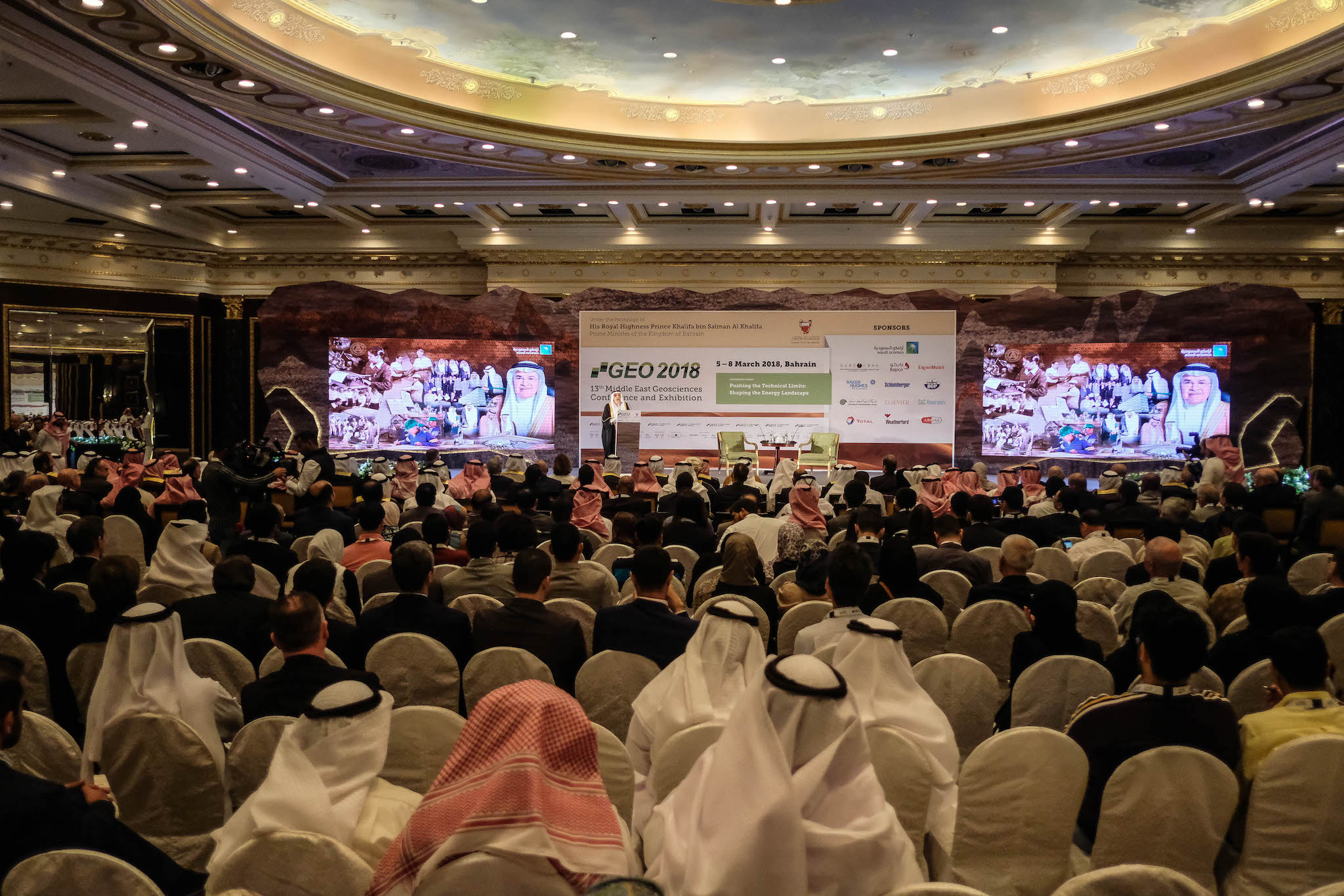 Conference opening audience and stage